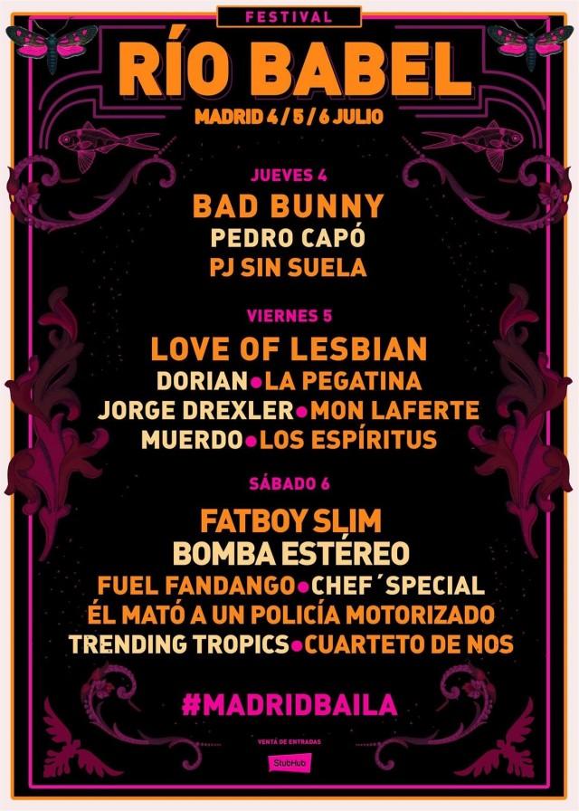 Cartel Festival Rio Babel